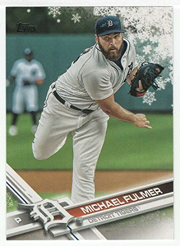 Michael Fulmer Baseball Card 2017 Topps Walmart Holiday Snowflake Hmw 165 Mt