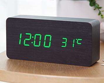 Dong Reloj Despertador Creativo LED Reloj electrónico Luminoso Reloj Digital Niños de Mesa Moderno Reloj de Mesa de Escritorio de Estudiante (Color : # 4): ...