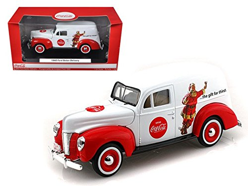 Motorcity Classics MCC439695 1940 Ford Sedan Delivery Holiday Panel Van Coca Cola The Gift of Thirst 1/24 Diecast Car Model