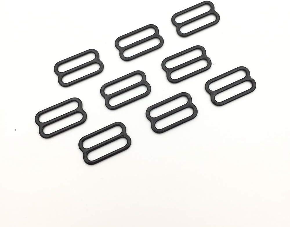 5//8 15mm Black Nylon Coated Metal Hooks Bra Adjusters 15mm Bra Making Bramaking
