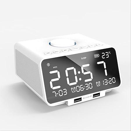 QQA Bluetooth Despertador Altavoz Radio FM, Micro TF Tarjeta SD ...