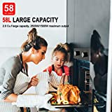 """Single Wall Oven, GASLAND Chef GS606MB 24"""" Built-in Natural Gas Oven, 6 Cooking Functions Convection Gas Wall Oven with Rotisserie, Mechanical Knobs Control, 120V Electric Ignition, Black Glass Finish"""