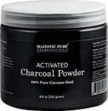 Activated Charcoal Teeth Whitening Activated Charcoal Powder from Majestic Pure, from 100% Pure Coconut Shells, 8.8 oz