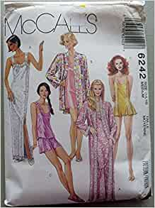 Mccalls 6242 Sewing Pattern for Misses, Robe, Nightgown