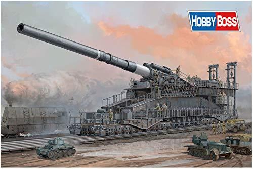 Hobby Boss German 80cm K(E) Railway Gun 'Dora' Vehicle Model Building Kit (Model Gun Building Kit)