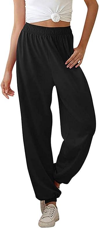 F/_Gotal Womens Comfy Casual Pajama Pants American Flag Print Drawstring Palazzo Lounge Pants Wide Leg Sweatpants