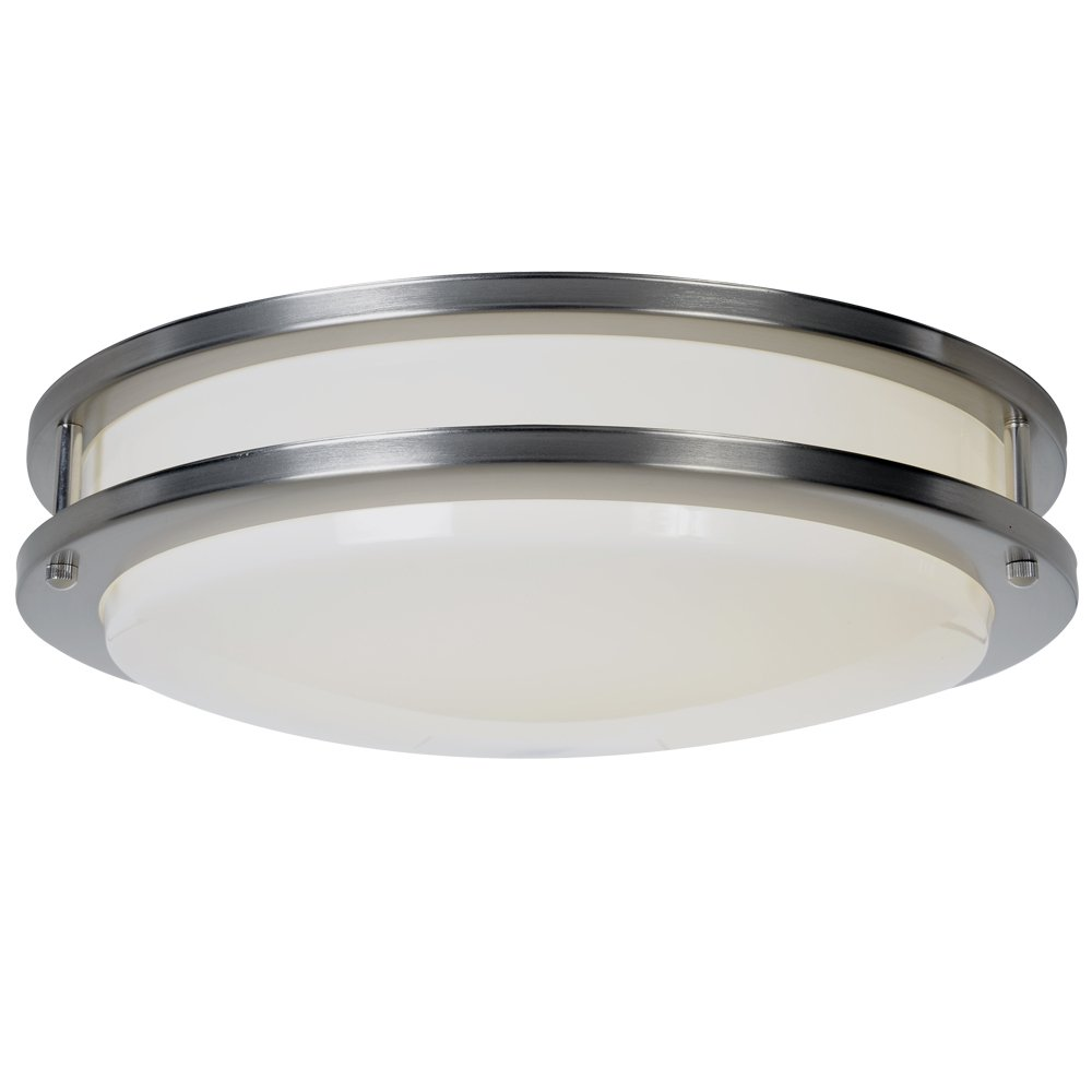 af lighting fluorescent flush mount satin nickel finish 24inch d by 5inch h close to ceiling light fixtures amazoncom