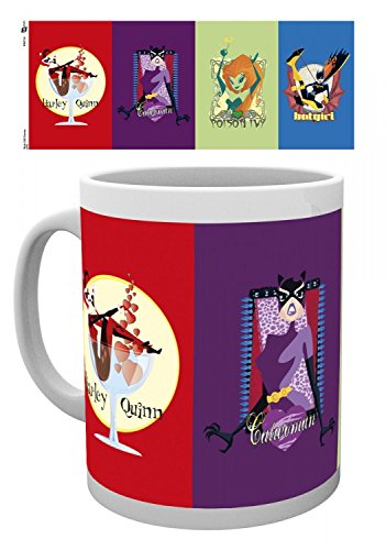 DC Comics Photo Coffee Mug - Gotham Girls, Catwoman, Batgirl, Poison Ivy, Harley Quinn (4 x 3 inches) -