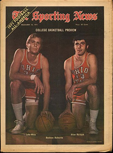 1971 Ncaa Basketball (SPORTING NEWS 12/18 1971 NCAA Basketball prevue; Ernie D Unitas Dick Allen)