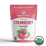 USDA Certified Organic Freeze Dried Strawberry Powder, 8 Ounces, Non GMO, Gluten Free, Vegan