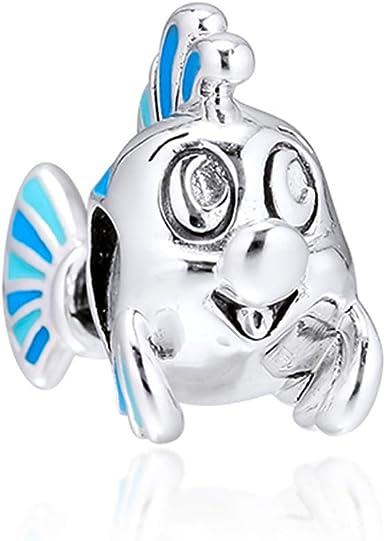 Cooltaste 2019 Otoño La Sirenita Flounder Bead 925 Plata Diy Se Adapta Para Original Pandora Pulseras Charm Joyería De Moda Amazon Es Ropa Y Accesorios