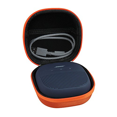 Hermitshell Hard EVA Travel Bright Orange Case Fits Bose SoundLink Micro Bluetooth Speaker