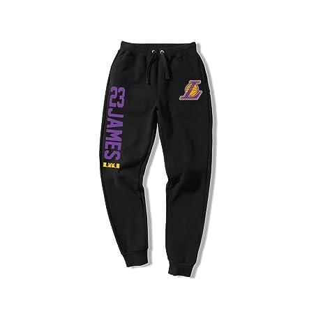 HYYSH Lakers James Pantalones Pantalones de Pierna Suelta ...
