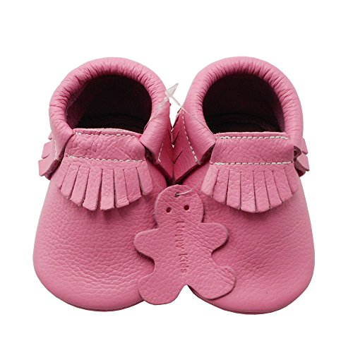 Image of YIHAKIDS Baby Tassel Shoes Soft Leather Sole Infant Toddler Moccasins First Walkers Shoes Multi-colors