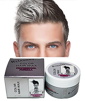 Best Cheap Deal for Relaxory Temporary Color Hair Wax Molding Clay Gery White Purple Gold Blue Pink For Men Girl Party by Relaxory - Free 2 Day Shipping Available