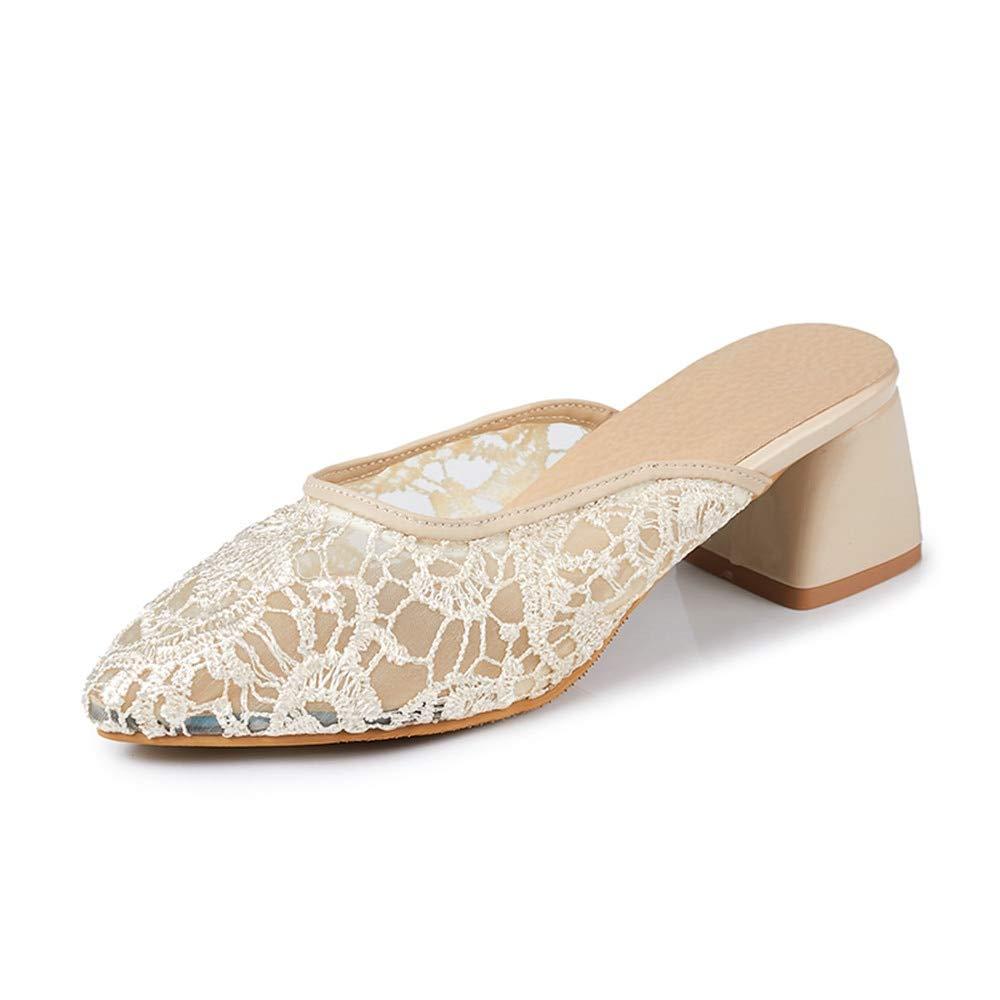 MENGLTX High Heels Sandalen Große Größe 33-43 Spitzkappe Sommer Schuhe Elegante Spitze Sandalen Frauen Flache High Heels Schuhe Frau B07QLRTY3B Sport- & Outdoorschuhe Qualität und Verbraucher an erster Stelle