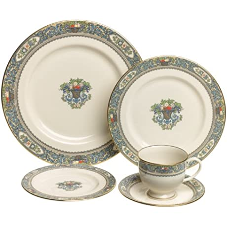 Lenox Autumn Gold Banded Fine China 20 Piece Dinnerware Set Service For 4