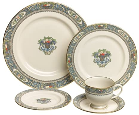 323f586640f1 Amazon.com | Lenox Autumn Gold-Banded Fine China 20-Piece Dinnerware ...