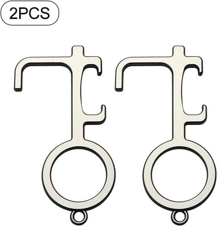 Hand T/ür/öffner Schl/üsselwerkzeug f/ür den Au/ßenbereich Touchscreen-Geschmack tackjoke 2 STK EDC Ber/ührungser -T/ür/öffner geh/ört die H/ände sauber. einfach zu tragen