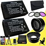 58mm Macro Close Up Kit for Canon EOS Rebel SL1 with Canon 18-55mm STM Lens + TWO Halcyon LP-E12 Batteries for Canon EOS Rebel SL1 Starter Bundle