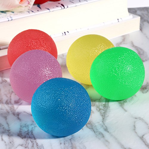Stress Balls, PBPBOX 5 Pack Squishy Balls Non Toxic Hand Exercise Balls