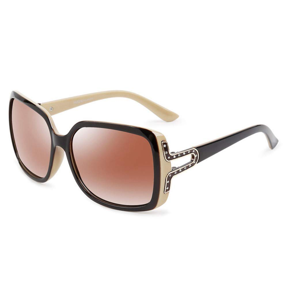 Retro Fashion Glasses Sunglasses Sunglasses Fashion Ladies Polarized Sunglasses Brown