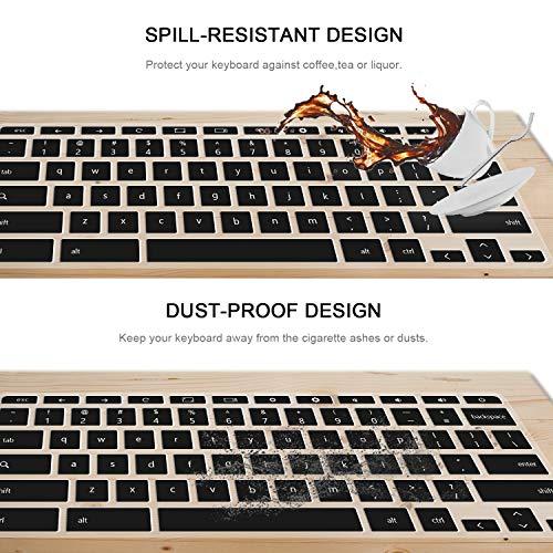 Keyboard Cover Skin for hp chromebook 14,hp 14 inch Touch-Screen Chromebook Keyboard Cover,hp Chromebook 14-ak,14-ca Series,hp Chromebook 14 G2 G3 G4 Series 2pack Gradualpurple+Clear