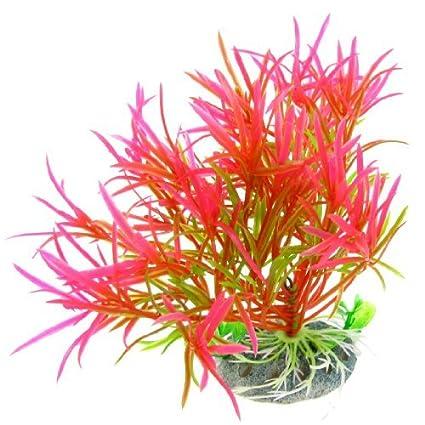 Decorations Fuchsia Plastique Artificiel Poisson Aquarium Décoration Plante Aquatique Pet Supplies