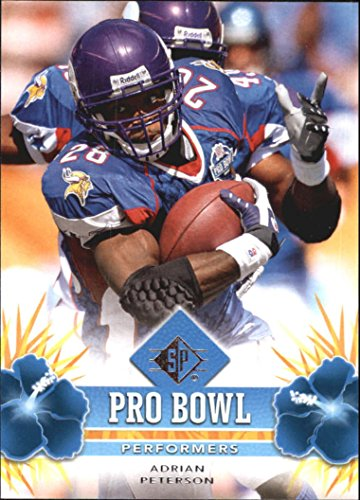 (2008 SP Authentic Retail Pro Bowl Performers #PBP2 Adrian Peterson - Football Card )