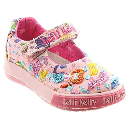 Lelli Kelly Mädchen Durchgängies Plateau Sandalen mit Keilabsatz Rose