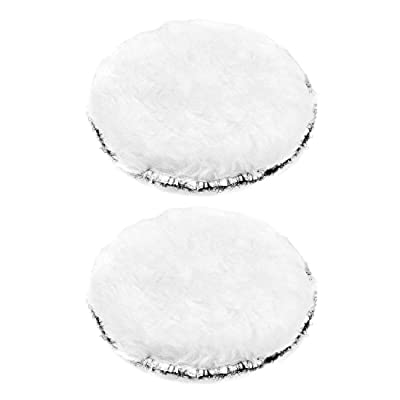 uxcell 4-Inch Wool Polishing Pad Hook and Loop Buffing Wheel for Polisher and Buffer 2 Pcs: Home Improvement
