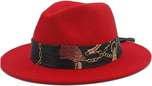MEN WOMEN HARD FELT HAT WIDE BRIM FEDORA PANAMA HAT GANGSTER VINTAGE CAP UNIT X1