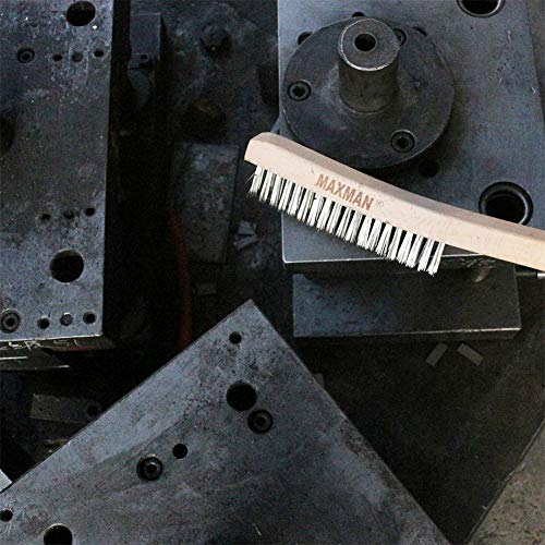 """Details about  /Heavy Duty Carbon Stainless Steel Wire Scratch Brush for Cleaning Rust with 14/"""""""
