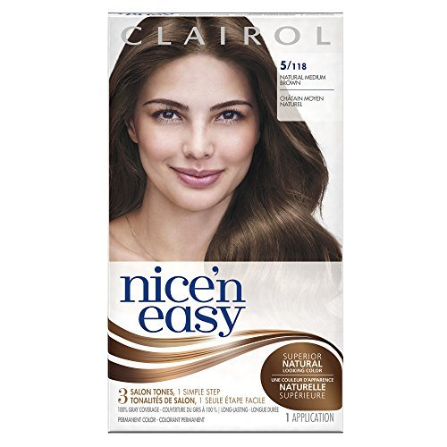 Price comparison product image Clairol Nice 'n Easy, 5/118 Natural Medium Brown, Permanent Hair Color, 1 Kit by Clairol