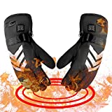 Romeifly Electric Heated Gloves with Rechargeable Batteries Gloves Waterproof Thermal Gloves 3 Heated Level Touchscreen for Skiing Walking Hiking Climbing Driving Hand Warmer