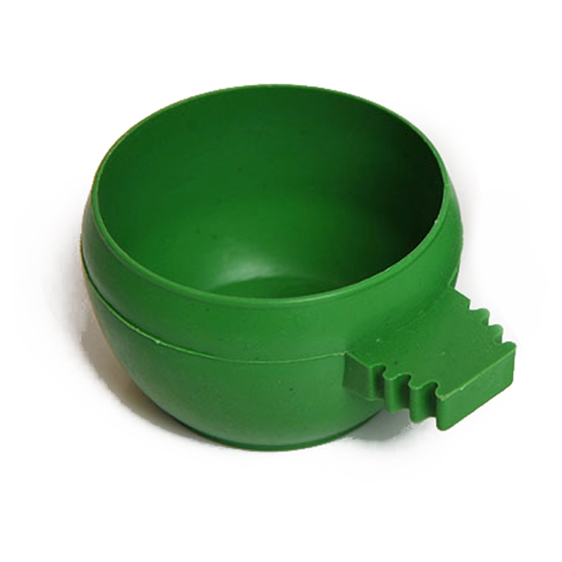 Parrot Aviary Pet Cage Plastic Round Bird Water Food Feeder Feeding Bowl Green L