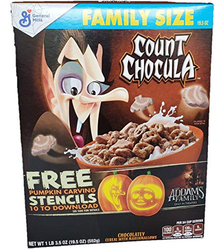 Free Pumpkin Carving Stencils | Count Chocula Halloween Chocolate Cereal with Marshmallows | Tricks & Treats Puzzle | Family Size
