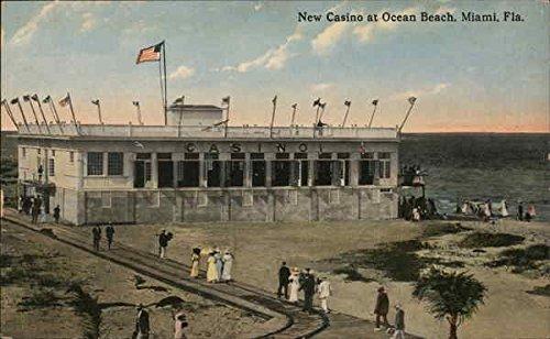 (New Casino at Ocean Beach Miami, Florida Original Vintage Postcard)