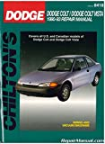 CH20342 Chilton Dodge and Plymouth Colt Vista 1990-1993 Repair Manual