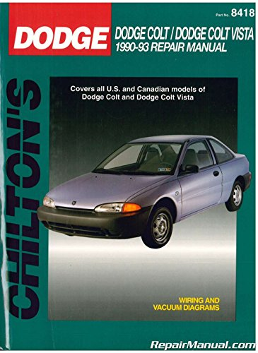 CH8418 Used Chilton Dodge Colt Dodge Colt Vista 1990-1993 Repair Manual
