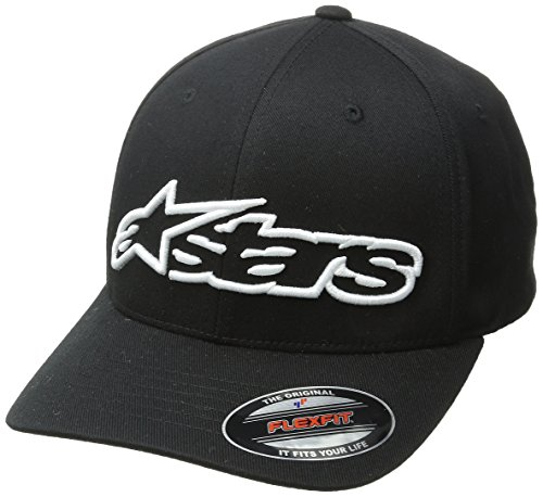 ALPINESTARS Young Men's BLAZE FLEXFIT Hat, -black/white, S/M Star Flex Fit Cap