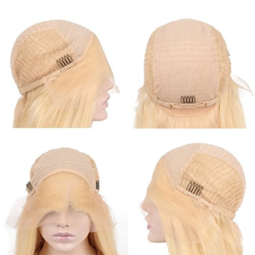 Nobel Hair Glueless Lace Front Blond Human Hair Bob Wigs With Baby Hair Pre Plucked 613 Blonde Short Wig Brazilian Virgin Hair 12Inches by Nobel Hair (Image #6)