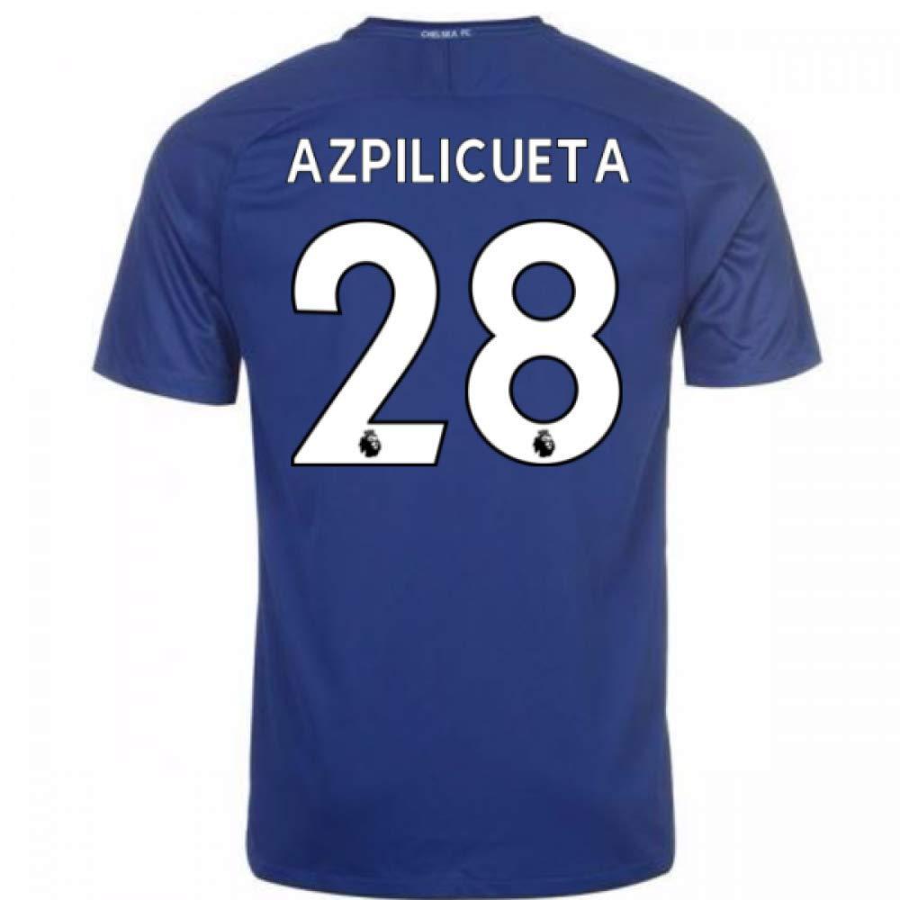 2017-18 Chelsea Home Football Soccer T-Shirt Trikot (Cesar Azpilicueta 28) - Kids