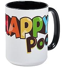 CafePress - Emoji Happy Poo - Coffee Mug, Large 15 oz. White Coffee Cup