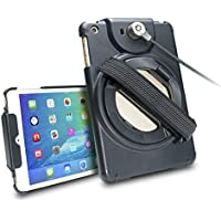 CTA Digital Anti-Theft Case with Built-in Grip Stand, iPad mini 1-4 (PAD-ACGM)