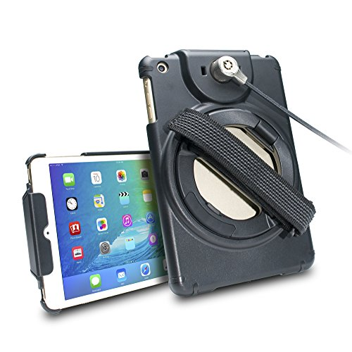 (CTA Digital Anti-Theft Case with Built-in Grip Stand for New iPad mini (2019), Gen.1-5 (PAD-ACGM) )
