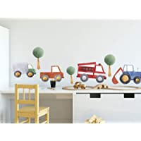GRAZDesign Muursticker auto's kinderkamer, muurstickers bomen voor jongens, decoratie voor babykamer baby jongenskamer…