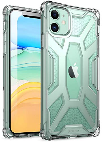 iPhone 11 Case, Poetic Premium Hybrid Protective Clear Bumper Cover, Rugged Lightweight, Military Grade Drop Tested, Affinity Series, for Apple iPhone 11 (2019) 6.1 Inch, Clear