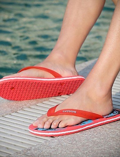 Flops uk7 Shoes Men's NTX eu40 cn41 Outdoor Latex Summer red Blue Casual Beach Red Sea us8 Black Fashion Flip Bvx1w