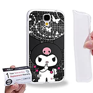 Case88 [Samsung Galaxy S4] Gel TPU Carcasa/Funda & Tarjeta de garantía - My Melody & Kuromi Collection 0651